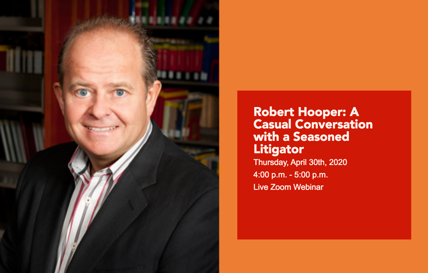 Robert Hooper Zoom Webinar