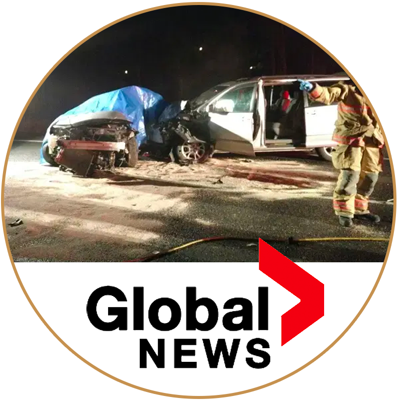 global news car crash image on red hill
